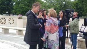 Steve Bright with Nina Totenberg