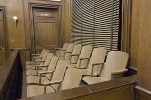 Penalty setting by jurors- Fairfax criminal defense lawyer weighs in- Photo of jury box