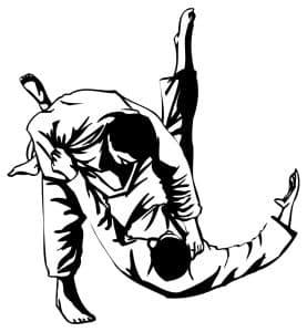 Assaulting police risks 6 months minimum jail says Fairfax criminal lawyer- Illustration of judo players