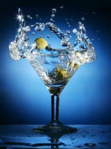 DUI arrest risks during pandemic addressed by Fairfax criminal lawyer- Photo of splashing martini