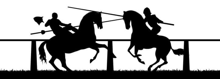 Trial skills addressed by Fairfax criminal lawyer- Image of jousters
