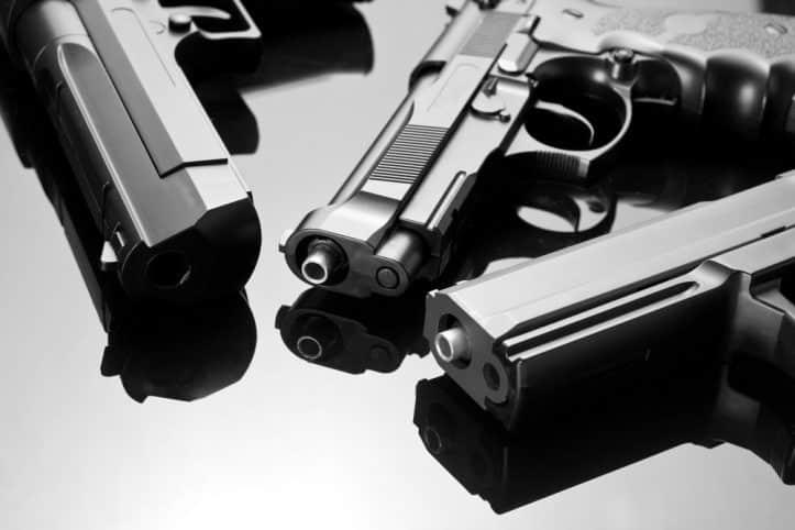 Handgun purchases- image of three firearms