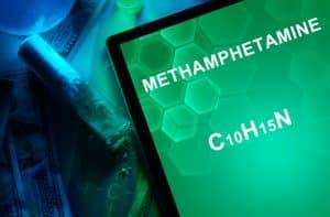 Methamphetamine dealing conviction addressed by Fairfax criminal lawyer- Meth chemical formula