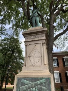 Momentum for VA criminal defendants' rights- Fairfax lawyer comments- Photo of removed Albemarle courthouse confederate statue