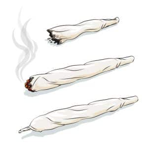 Marijuana odor to no longer allow VA police searches says Fairfax lawyer- Image of burning marijuana joint