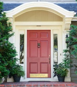 Home visits by police & 4th Amendment- Fairfax criminal lawyer comments- Photo of home front door