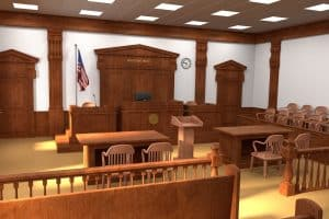 Race based jury strikes addressed by Fairfax criminal lawyer - Photo of courtroom
