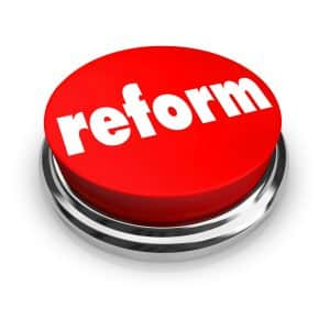 Reform developments in criminal law- Fairfax criminal lawyer weighs in- Image of reform hot button