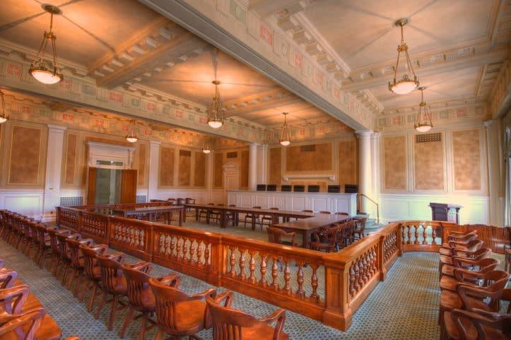 Logistics in Fairfax court- Courtroom photo