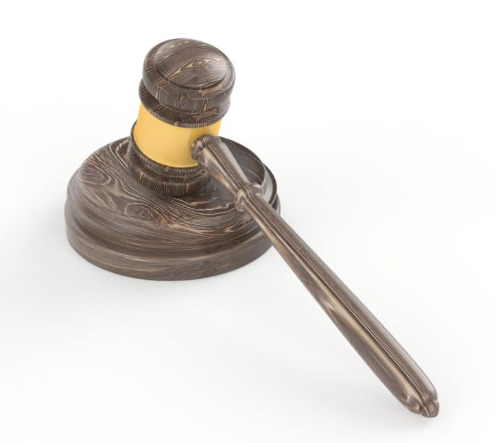 Jury trial resumption- Photo of gavel