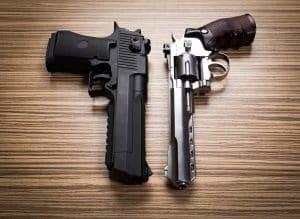 Virginia cops- Image of two handguns