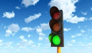 Violating a green light leads to DUI arrest- Fairfax criminal lawyer weighs in- Image of green traffic light