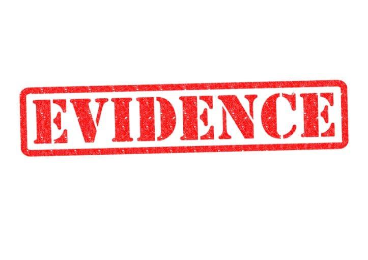 Fairfax defendant- Image of Evidence word