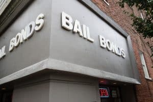 Fairfax judge on constitutionality of bail- VA criminal lawyer comments- Photo of bail bond storefront