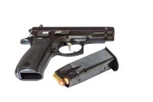 Beware convictions for nearby contraband warns Fairfax criminal lawyer- Photo of Glock handgun and magazine