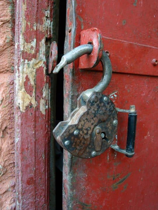 Breaking & entering- Photo of broken padlock