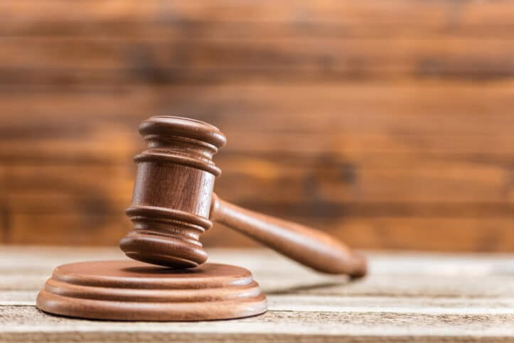 Virginia bail victories- Image of judicial hammer