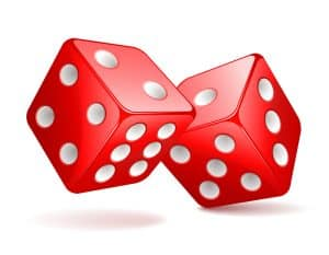 Gamble not - picture of two gambling dice