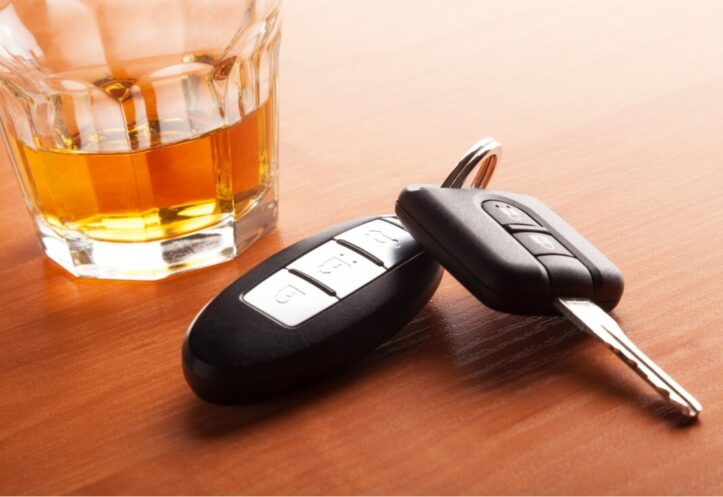 FST refusal in Virginia- Image of liquor glass and car keys
