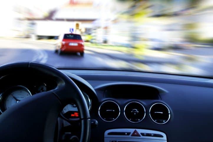 Virginia DUI victory- Photo of police dashboard