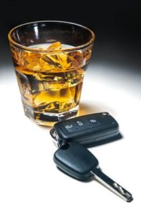 Blood alcohol content testing in DUI prosecutions- Photo of liquor and car key