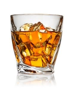 Breath test refusal- Image of whiskey on the rocks