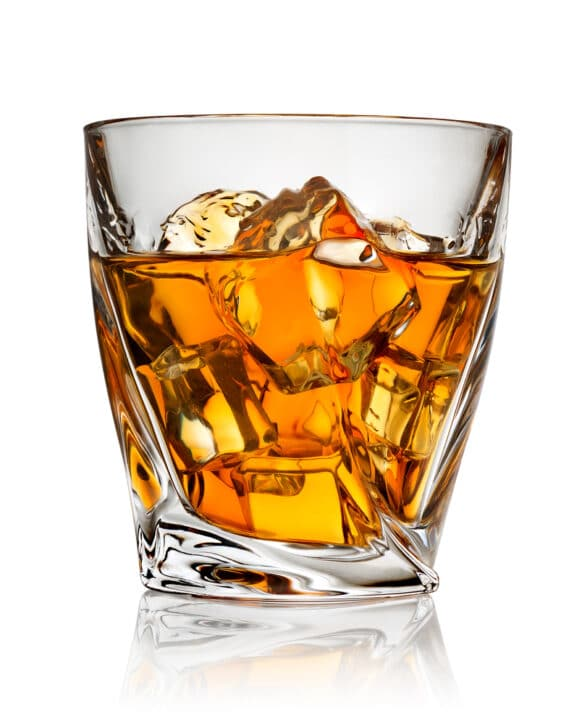 Breath test refusal- Image of whiskey on the rocks