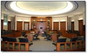 Trial day with your attorney- Fairfax criminal lawyer weighs in- Image of courtroom