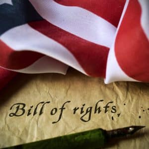 Secondary offense stops addressed by Virginia DUI lawyer - Image of Bill of Rights
