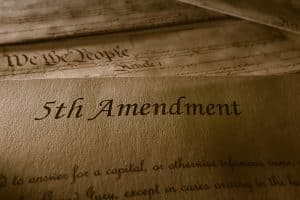Invoking Fifth Amendment - Image of Bill of Rights