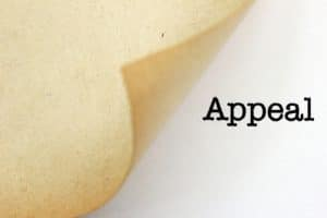 Appealing- Image of appeal document