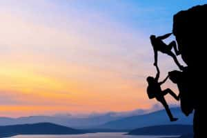 Working with your Virginia - Image of teamwork rockclimbers DUI lawyer from start to finish -